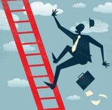 Абстрактные падения бизнесмена корпоративной лестницы иллюстрация штока