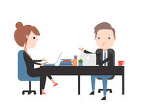 абстрактные переговоры бизнеса моделя 3d Стоковое Изображение RF