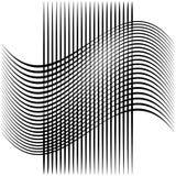 Абстрактные пересекая линии, картина отверстия щетки Стоковая Фотография
