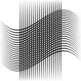 Абстрактные пересекая линии, картина отверстия щетки Стоковое Изображение RF
