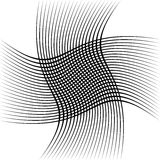 Абстрактные пересекая линии, картина отверстия щетки Стоковая Фотография RF