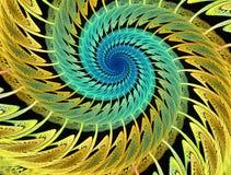Абстрактные пестротканые психоделические спирали на черной предпосылке Стоковые Изображения RF