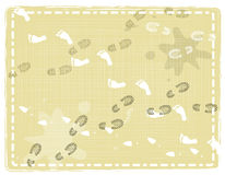 Абстрактные печати ноги Стоковая Фотография RF