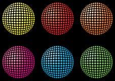 абстрактные плитки сферы Стоковое фото RF