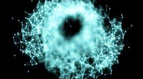 Абстрактные поверхности геометрии, линии и предпосылка пунктов, используемая как цифровая предпосылка обоев и технологии Стоковое Изображение