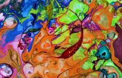 абстрактные помарки предпосылки по мере того как предпосылка может мраморизовать используемую текстуру Акриловые цвета Стоковое Изображение