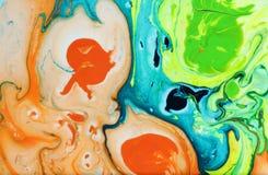 абстрактные помарки предпосылки по мере того как предпосылка может мраморизовать используемую текстуру Акриловые цвета Стоковая Фотография RF