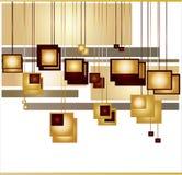 абстрактные померанцовые квадраты Стоковая Фотография RF