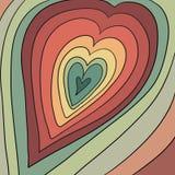 абстрактные предпосылка и крышка для дизайна с изображением сердец стоковая фотография