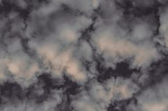 Абстрактные предпосылка, облака и дым на темноте - серая предпосылка Стоковые Фотографии RF