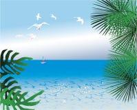абстрактные предпосылки тропические Стоковые Изображения