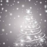 Абстрактные предпосылка зимнего отдыха/поздравительная открытка Стоковая Фотография