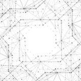 Абстрактные предпосылки молекул освещают - серые линии Стоковое Изображение RF