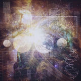 Абстрактные предпосылки науки и техники Стоковое фото RF