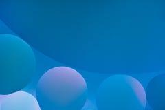 абстрактные предпосылки Пустословия на воде, абстракция масла Макрос Стоковые Фото