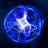 Абстрактные предпосылки силы и электричества бесплатная иллюстрация
