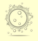 Абстрактные предпосылки для научного исследования Стоковые Изображения RF