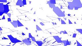 Абстрактные простые фиолетовые развевая решетка 3D или сетка как декоративная окружающая среда Фиолетовая геометрическая вибрируя иллюстрация вектора
