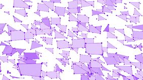 Абстрактные простые фиолетовые развевая решетка 3D или сетка как высокотехнологичная предпосылка Фиолетовая геометрическая вибрир иллюстрация вектора