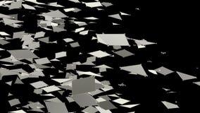 Абстрактные простые черно-белые развевая решетка 3D или сетка как уникально предпосылка Серая геометрическая вибрируя окружающая  иллюстрация вектора