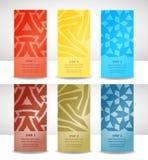 Абстрактные профессиональные и дизайнерские карточки цвета Стоковые Изображения