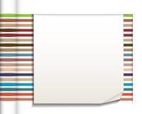 Абстрактные прямые линии с предпосылкой белой бумаги Стоковые Фотографии RF
