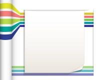 Абстрактные прямые линии с предпосылкой белой бумаги Стоковая Фотография RF