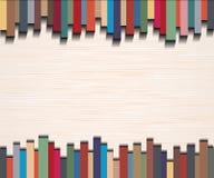 Абстрактные прямые линии с русой бумажной предпосылкой Стоковое Изображение RF