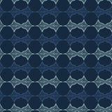 Абстрактные прямые линии делают по образцу безшовную картину вектора Нашивки сини индиго этнические бесплатная иллюстрация