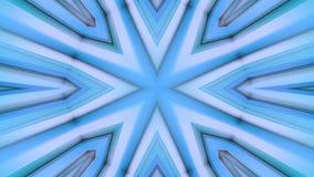 Абстрактные развевая голубые полигональные решетка 3D или сетка пульсируя геометрических объектов Польза как абстрактное виртуаль видеоматериал