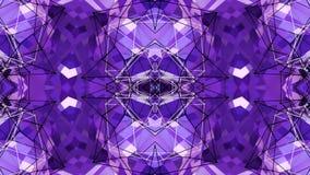 Абстрактные развевая полигональные решетка 3D или сетка пульсируя геометрических объектов Польза как абстрактное виртуальное прос сток-видео
