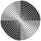 Абстрактные радиальные, концентрические круги, кольца Стоковая Фотография RF