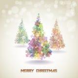 Абстрактные рождественские елки Стоковое фото RF
