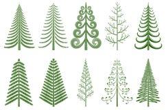 абстрактные рождественские елки Стоковые Изображения