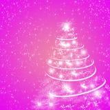 Абстрактные розовые предпосылка зимнего отдыха/поздравительная открытка Стоковые Изображения RF