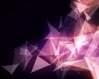 Абстрактные розовые частицы треугольника Стоковая Фотография