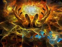 Абстрактные руки иллюстрация штока