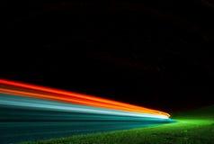 Абстрактные света автомобиля стоковая фотография