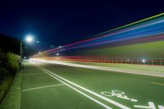 Абстрактные света автомобиля Стоковое Изображение