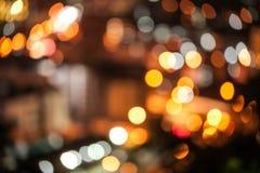 абстрактные света города предпосылки Стоковое Изображение RF