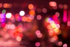 Абстрактные света города bokeh текстуры Стоковые Фото