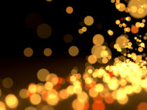 Абстрактные света на черноте Стоковая Фотография