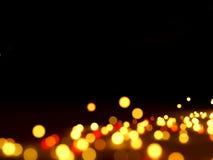 Абстрактные света на черноте Стоковые Фотографии RF