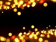 Абстрактные света на черноте Стоковое Изображение