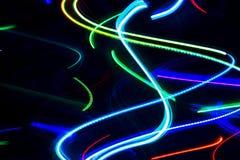 абстрактные света неоновые Стоковые Фото