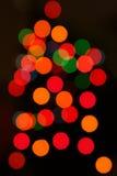 абстрактные света рождества Стоковое Изображение