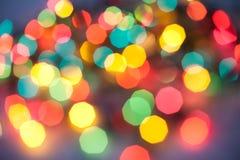 абстрактные света рождества Стоковые Фото