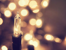 Абстрактные света рождества с defocused bokeh освещают в backgro Стоковое Изображение