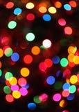абстрактные света christamas стоковые изображения