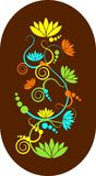 абстрактные свирли лотоса Стоковая Фотография RF